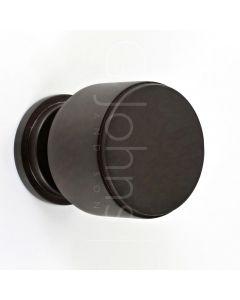 cylinder-shape-stepped-pattern-cupboard-knob-with-round-base-dark-bronze