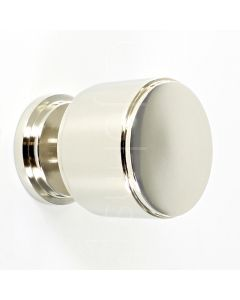 cylinder-shape-stepped-pattern-cupboard-knob-with-round-base-polished-nickel