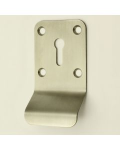 Chubb Style Cylinder Pull With Standard Key Way - Satin Stainless Steel