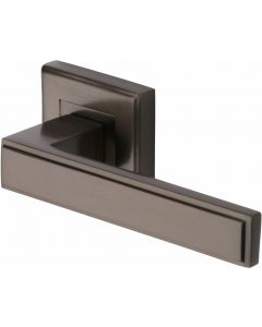 Linear - Square Rose Lever Handles Only - Matt Bronze