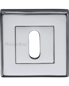 Standard Square Profile Escutcheon - Polished Chrome