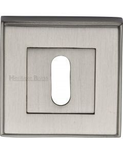Standard Square Profile Escutcheon - Satin Nickel