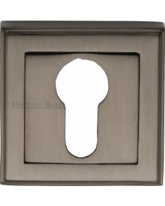 Euro Profile Square Escutcheon - Matt Bronze