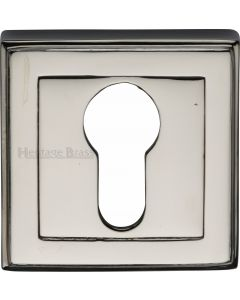 Euro Profile Square Escutcheon - Polished Nickel