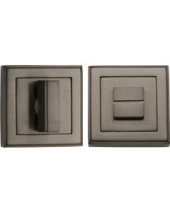 Square Turn & Release Cylinder With Stepped Edge Set - Matt Bronze