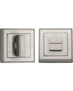 Square Turn & Release Cylinder With Stepped Edge Set - Satin Nickel