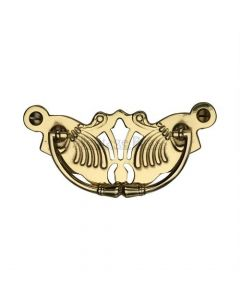 Decorative Cabinet Pull - Polished Brass