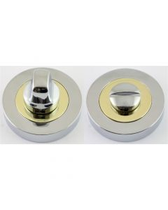Turn & Release Set - Dual Finish - Polished Chrome & Brass