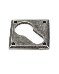 Diamond Euro Profile Escutcheon - Face Fixed - Pewter