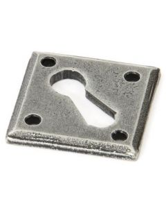 Diamond Standard Profile Escutcheon - Face Fixed - Pewter