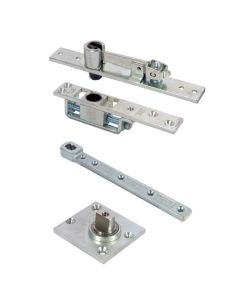 Double Action Pivot Set - For Double Swing Doors - Floor Mounted - 250kg - Satin Stainless Steel