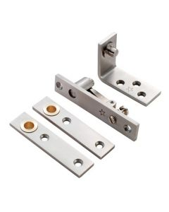 Double Action Pivot Set - For Double Swing Doors - Frame Mounted - 80kg - Satin Stainless Steel