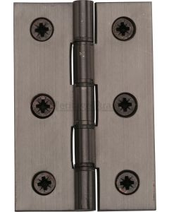 Traditional Double Phosphor Bronze Washered Hinges - Screws Included - 76mm x 50mm - Matt Bronze