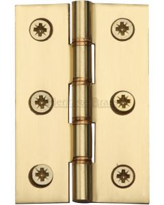 Double-Phosphor-Bronze-Washered-Hinges-76mm-x-50mm-Polished-Brass