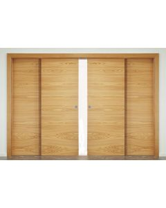 4 Door Double Telescopic Sliding Door Track Kit - Max Door Width Per Panel 1200mm - To Cover A Maximum Opening Of 4660mm - Max Panel Weight 80kg