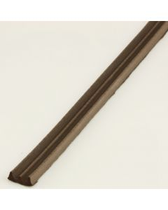 E' Profile EPDM Rubber Draught Proofing Strip For Doors & Windows - Brown Finish - 10m Roll