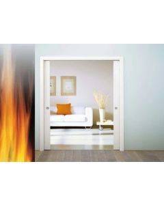 Eclisse Fire Rated Sliding Pocket Door System - Double Fire Door FD30 Kit - 120mm Finished Wall Thickness