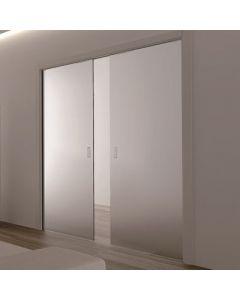 Eclisse Double Glass Sliding Pocket Door Kit