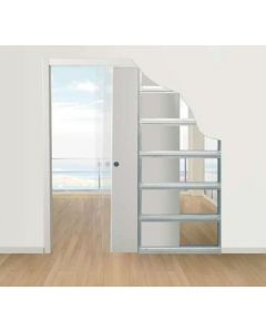Eclisse Sliding Pocket Door System - Single Door Kit - To Suit 125mm Wall Thickness