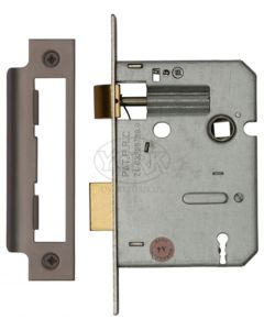 3 Lever Economy Mortice Sash Lock - Matt Bronze Finish