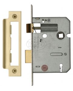 3 Lever Economy Mortice Sash Lock - Satin Brass Finish