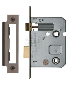 Economy Mortice Bathroom Lock - To Suit 5mm Spindle - Matt Bronze Finish