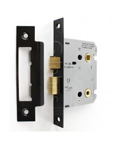 Economy Mortice Bathroom Lock - To Suit 5mm Spindle - Matt Black