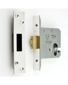 Architectural Quality Euro Profile Mortice Dead Lock Case - Polished Stainless Steel (Shiny Finish)