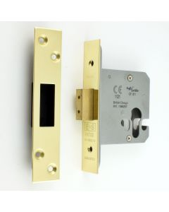 Architectural Quality Euro Profile Mortice Dead Lock Case - PVD Brass Finish