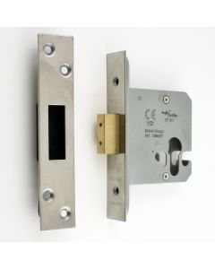 Architectural Quality Euro Profile Mortice Dead Lock Case - Satin (Brushed) Stainless Steel