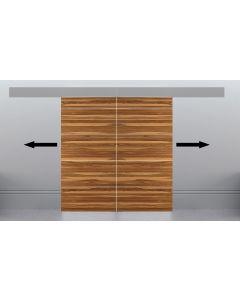 Automatic Electronic Sliding Door Track System - For Bi-Parting Double Internal Wooden Doors Up To 1058mm Wide - 40kg Max Door Weight - (Per Door)