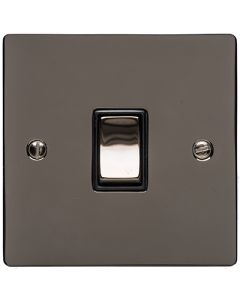 Elite Flat Plate Light Switch & Socket Range - Flat Plate With Rounded Edges - Black Nickel