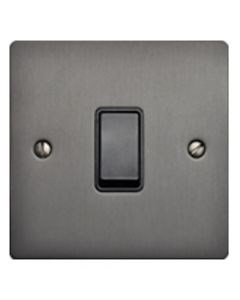 Elite Flat Plate Light Switch & Socket Range - Flat Plate With Rounded Edges - Matt Bronze