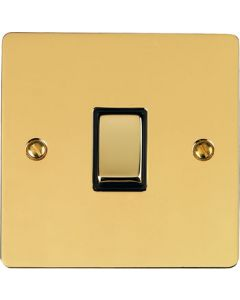 Elite Flat Plate Light Switch & Socket Range - Flat Plate With Rounded Edges - Polished Brass