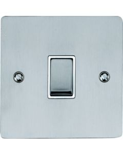Elite Flat Plate Light Switch & Socket Range - Flat Plate With Rounded Edges - Satin Chrome