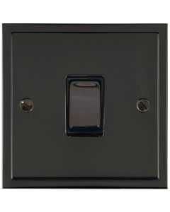 Elite Stepped Pattern Plate Light Switch & Socket Range - Flat Plate With Square Edges - Black Nickel