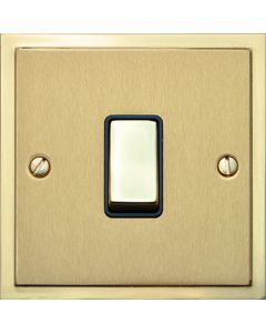 Elite Stepped Pattern Plate Light Switch & Socket Range - Flat Plate With Square Edges - Dual Finish Satin Brass & Polished Brass