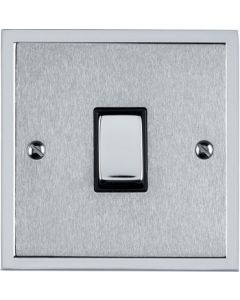 Elite Stepped Pattern Plate Light Switch & Socket Range - Flat Plate With Square Edges - Dual Finish Satin Chrome & Polished Chrome