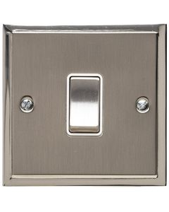 Elite Stepped Pattern Plate Light Switch & Socket Range - Flat Plate With Square Edges - Dual Finish Satin Nickel & Polished Nickel