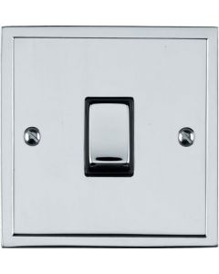 Elite Stepped Pattern Plate Light Switch & Socket Range - Flat Plate With Square Edges - Polished Chrome