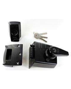ERA High Security B.S. Night Latch (Front Door Yale Lock) - Matt Black