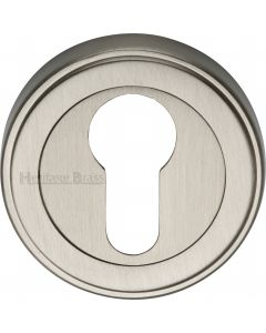 Euro Profile Round Escutcheon - Satin Nickel