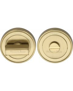 Round Turn & Release Cylinder With Stepped Edge Set - Satin Brass