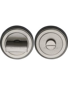 Round Turn & Release Cylinder With Stepped Edge Set - Satin Nickel