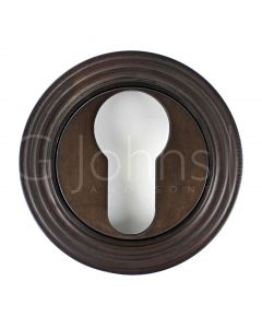 euro-profile-escutcheon-with-reeded-rose-53mm-x-10mm-dark-bronze