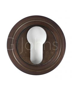 euro-profile-escutcheon-with-stepped-rose-53mm-x-10mm-dark-bronze