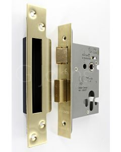 Architectural Quality Euro Profile Mortice Sash Lock Case - CE Marked - Fire Rated - Satin Brass