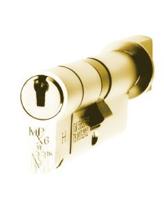 TS007 1 Star Rated - BS Kitemarked - 6 Pin Anti Snap Euro Cylinders High Security Range - Key & Tumb Turn - Polished Brass