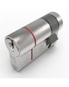 TS007 1 Star Rated - BS Kitemarked - 6 Pin Anti Snap Euro Profile Single Half Cylinders - High Security Range - Satin Chrome