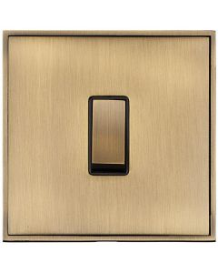 Executive Concealed Fix Plate Light Switch & Socket Range - Flat Screwless Plate With Rounded Edges - Antique Brass